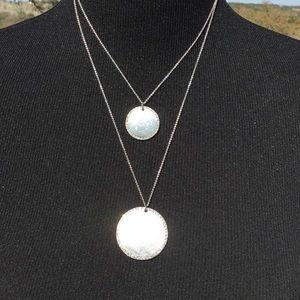 WHBM Silver & Diamond Necklace